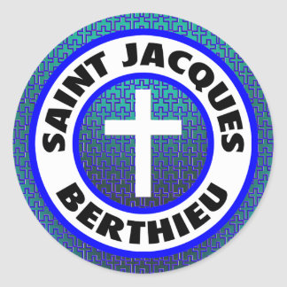 Saint Jacques Berthieu Classic Round Sticker
