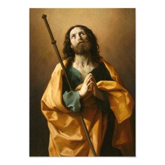 """Saint James"" religious art custom invitations"