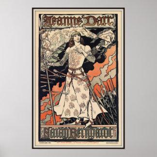 Saint Jeanne d'Arc, Sarah Bernhardt, 1899 Poster