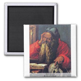 Saint Jerome By Albrecht Dürer 2 Inch Square Magnet