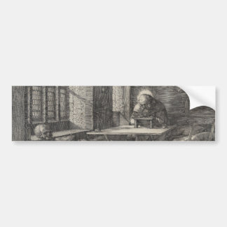 Saint Jerome in His Study by Albrecht Durer Bumper Sticker