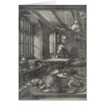 Saint Jerome in His Study by Albrecht Durer Cards