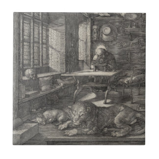 Saint Jerome in His Study by Albrecht Durer Ceramic Tile