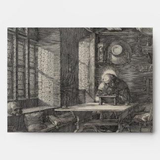 Saint Jerome in His Study by Albrecht Durer Envelope