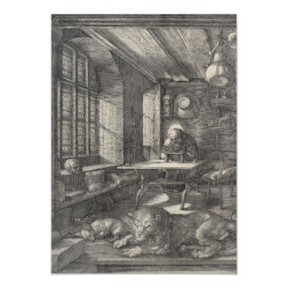 """Saint Jerome in His Study by Albrecht Durer 5"""" X 7"""" Invitation Card"""