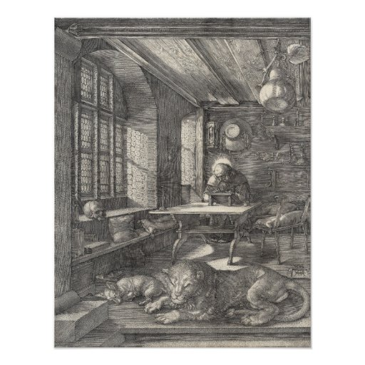 Saint Jerome in His Study by Albrecht Durer Photo Print
