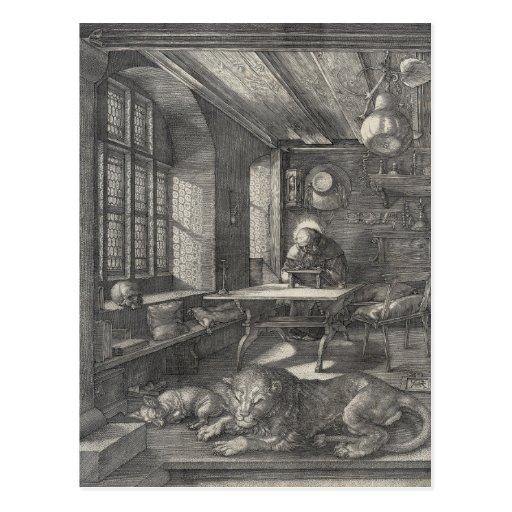 Saint Jerome in His Study by Albrecht Durer Postcard