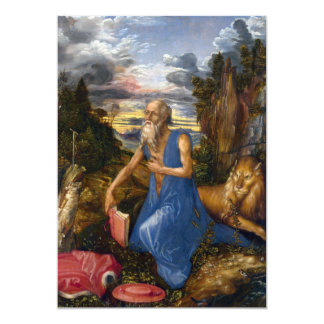 Saint Jerome in the Wilderness by Durer Card