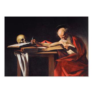 Saint Jerome Writing by Michelangelo Caravaggio Invites