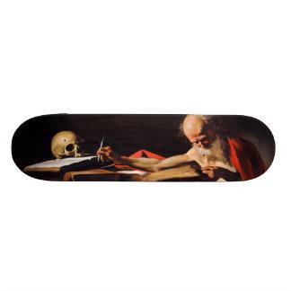 Saint Jerome Writing by Michelangelo Caravaggio Skateboard Deck