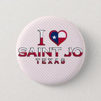 Saint Jo, Texas Pinback Button