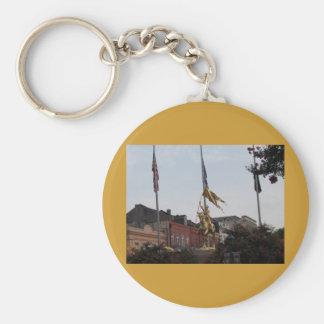 Saint Joan of Arc Basic Round Button Keychain