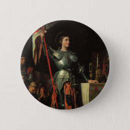 Saint Joan of Arc Button