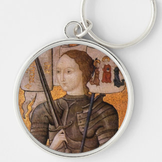 Saint Joan of Arc Button Keychain