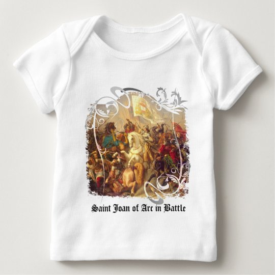 Saint Joan of Arc in Battle Baby Pullover Shirt