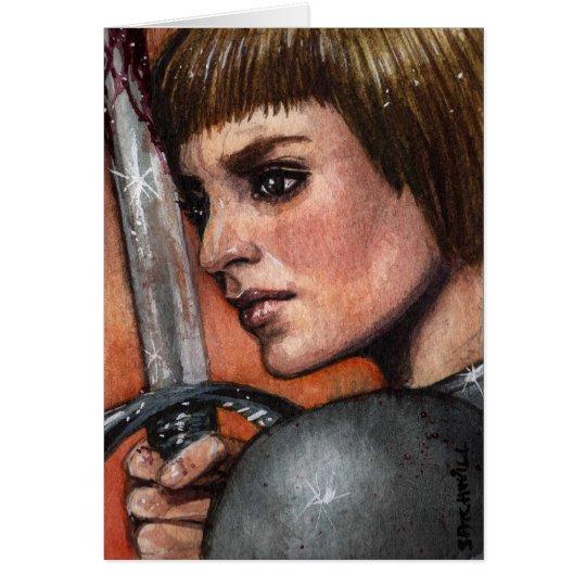 Saint Joan of Arc Note Card