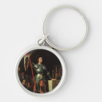 Saint Joan of Arc Silver-Colored Round Keychain