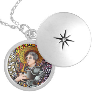 Saint Joan of Arc Silver Plated Necklace