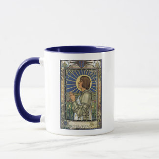 Saint Joan of Arc Stained Glass Image Mug