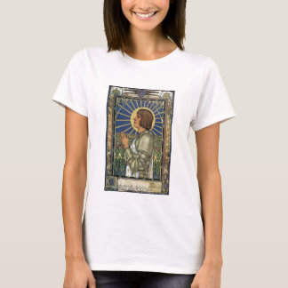 Saint Joan of Arc Stained Glass Image T-Shirt
