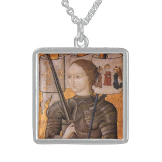 Saint Joan of Arc Sterling Silver Necklace
