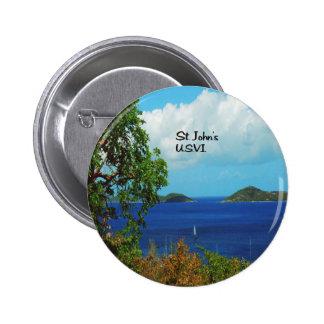 Saint John 2 Inch Round Button