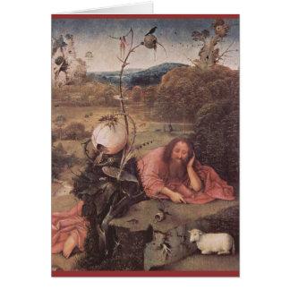 Saint John in the Wilderness 15th Century Card