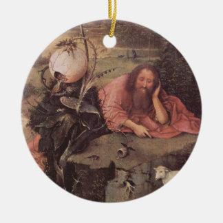 Saint John in the Wilderness 15th Century Ceramic Ornament