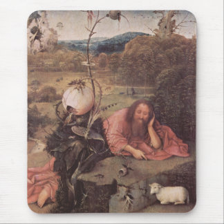 Saint John in the Wilderness 15th Century Mouse Pad