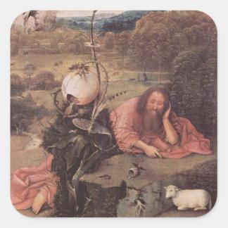 Saint John in the Wilderness 15th Century Square Sticker