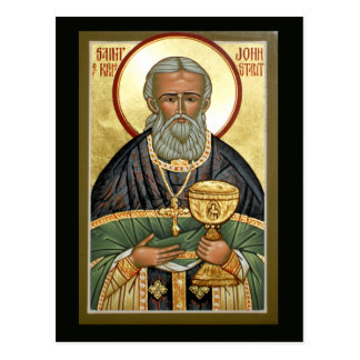 Saint John of Kronstadt Prayer Card Postcard