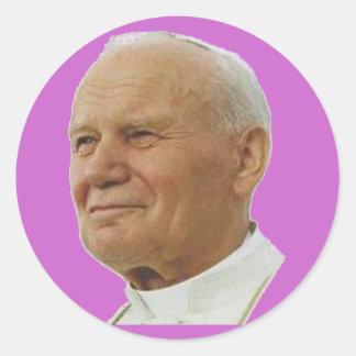Saint John Paul II Classic Round Sticker