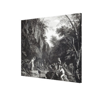 Saint John preaching in the Wilderness Canvas Print