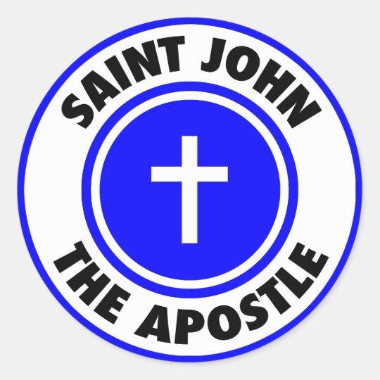 Saint John the Apostle Classic Round Sticker