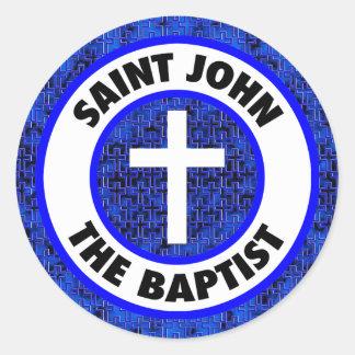 Saint John the Baptist Classic Round Sticker