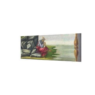 Saint John the Divine on Patmos, Writing the Book Canvas Print