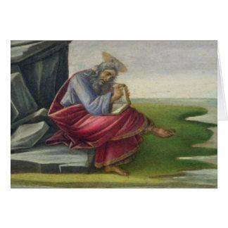 Saint John the Divine on Patmos, Writing the Book Greeting Card