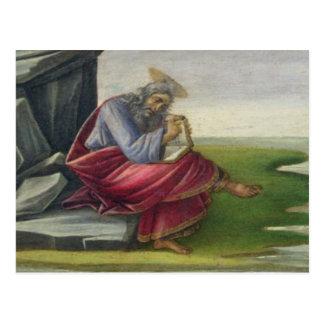 Saint John the Divine on Patmos, Writing the Book Postcard
