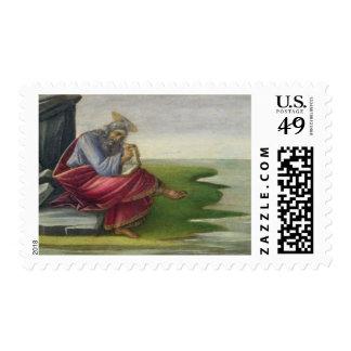 Saint John the Divine on Patmos, Writing the Book Stamp