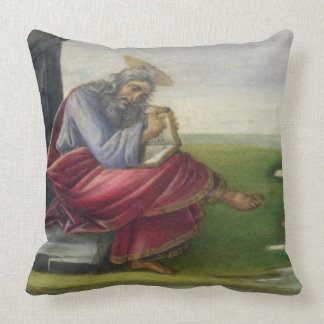 Saint John the Divine on Patmos, Writing the Book Throw Pillow