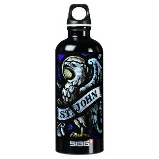 Saint John the Evangelist Stained Glass Art Water Bottle