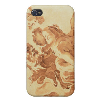 Saint Joseph adoring the Christ Child (pen, ink, b Cover For iPhone 4