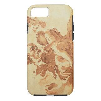 Saint Joseph adoring the Christ Child (pen, ink, b iPhone 8/7 Case