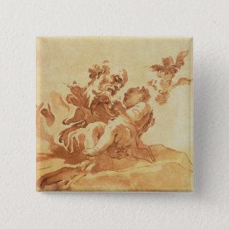 Saint Joseph adoring the Christ Child (pen, ink, b Pinback Button