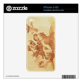 Saint Joseph adoring the Christ Child (pen, ink, b Skin For iPhone 4S