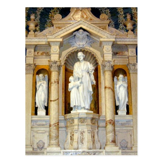 Saint Joseph and Child Jesus Statue Postcard