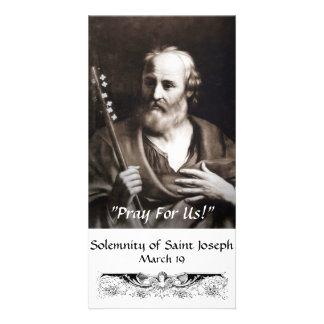 Saint Joseph Custom Photo Card