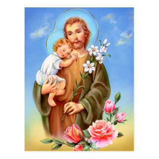 """Saint Joseph feast day"" ""little saints of spring"" Postcard"