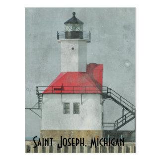 Saint Joseph Michigan Lighthouse Postcard