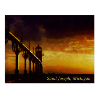 Saint Joseph Michigan Lighthouse Postcard